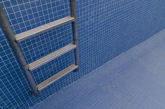 Empty pool. Ladder of the emty pool Stock Images
