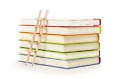 Ladder en boeken royalty-vrije stock foto's