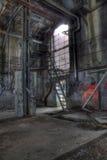Ladder en oude deur Royalty-vrije Stock Fotografie