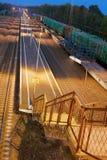 Ladder en platform van het station Stock Afbeelding