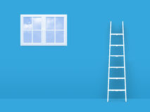 Ladder on Failure to Window Stock Photography