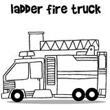 Ladder fire truck transport vector art Royalty Free Stock Image