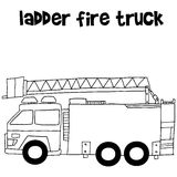Ladder fire truck vector illustration Stock Image