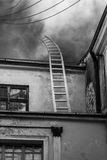 Ladder going up in to the sky Stock Images