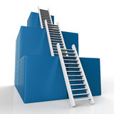 Ladder Growth Represents Increase Development And Steps Royalty Free Stock Image