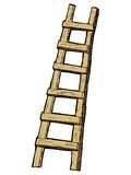 Ladder. Hand drawn, cartoon, sketch illustration of ladder Stock Photo