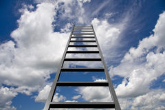 Ladder in hemel vector illustratie