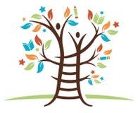 Ladder het Leren Boom stock illustratie