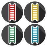 Ladder icons set with long shadow. Vector icon Stock Image