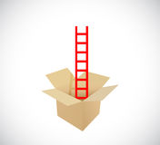 Ladder inside a box. illustration design Stock Photography
