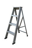 Ladder Isolated on white background, Industry tools on work site, Worker used ladder for work with subject on high position.  Stock Photo