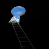 Ladder through keyhole to the sky Royalty Free Stock Photo