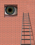 Ladder and Large Eye Stock Photography