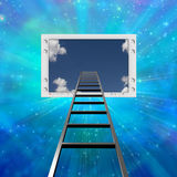 Ladder lead into Flat Panel Stock Images