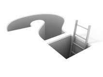 Ladder leading from the problem vector Stock Photo