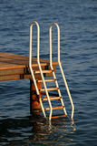 Ladder leading into the sea Stock Image