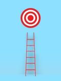 Ladder Leading Target Stock Image