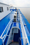 Ladder leading to captain`s cabin of cruise river motor ship Stock Images