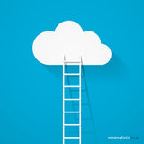 Ladder leading to cloud Royalty Free Stock Photography