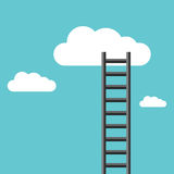Ladder leading to cloud Stock Photo