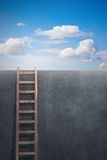 Ladder leading to freedom Stock Image