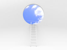 Ladder leading to sky Stock Photos