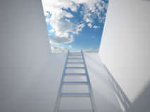 Ladder leading up to the light Royalty Free Stock Images