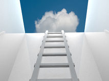 Ladder leading up to the light Royalty Free Stock Photo