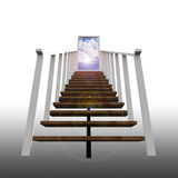Ladder leading up to the sky. A conceptual metaphor a business in success Royalty Free Stock Photography