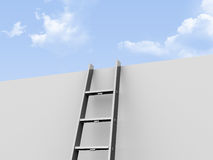 Ladder Leaned Wall Royalty Free Stock Photo