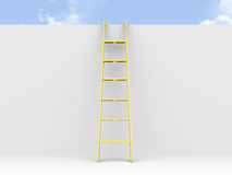 Ladder Leaned Wall Royalty Free Stock Photos