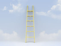 Ladder Leaned Weather Royalty Free Stock Photo