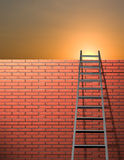 Ladder leans on wall Stock Image