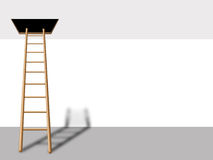 Ladder into loft Royalty Free Stock Image