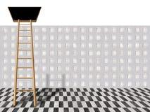 Ladder into loft Stock Images