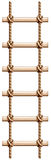 A ladder made of wood and rope. Illustration of a ladder made of wood and rope on a white background Royalty Free Stock Images