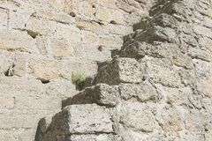 Ladder on a medieval wall Royalty Free Stock Image