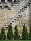 Ladder on a medieval wall. Cluj Napoca, Romania Royalty Free Stock Image