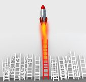Ladder missile competitive advantage 3d rendering Royalty Free Stock Photos