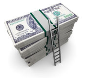 Ladder and money Stock Images