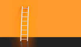 Ladder Near Wall Royalty Free Stock Image