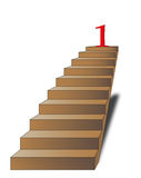 Ladder with number one on the top Stock Photography