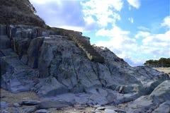 Ladder op de rotsen royalty-vrije stock afbeeldingen
