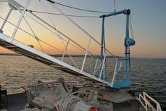 Ladder op schipraad royalty-vrije stock foto's