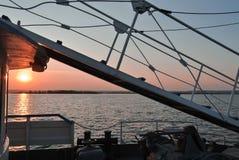 Ladder op schipraad royalty-vrije stock fotografie