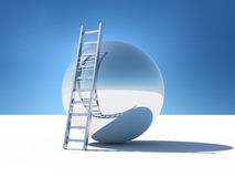 Ladder over the abstract world. Of the sky Vector Illustration