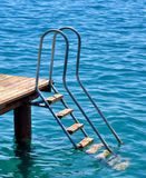 Ladder pier Royalty Free Stock Image