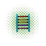 Ladder on playground icon, comics style Royalty Free Stock Photo