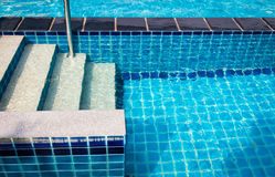 Ladder into the pool background Royalty Free Stock Photography