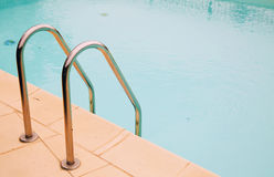 Ladder of pool Stock Photo